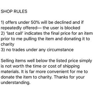 Note from seller.